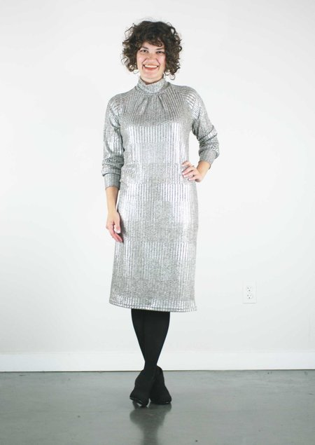 Allison Wonderland Louvre Dress - Metallic