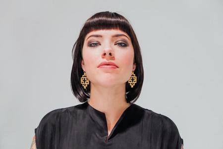 Nikki Jacoby Ostara Earrings - Brass