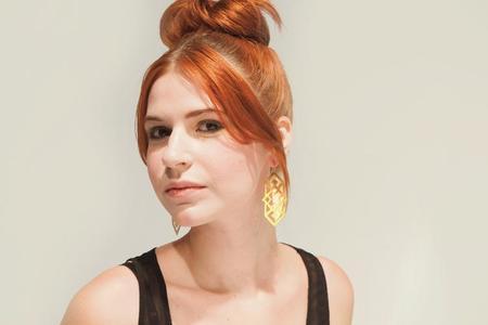 Nikki Jacoby Persei Earrings - Brass