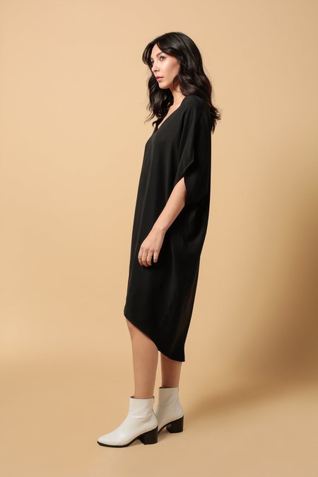 Priory Cocoon Dress - Matte Black