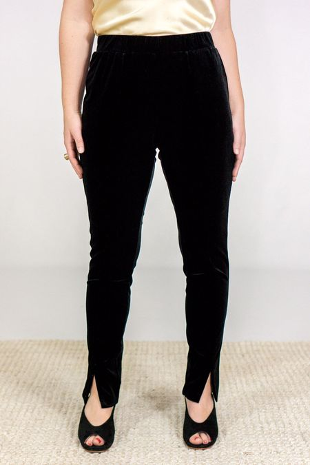 GOSILK Go Velvet Pants - Washed Black