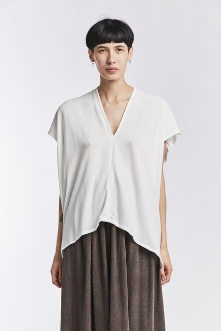Miranda Bennett Rayon Everyday Top - White