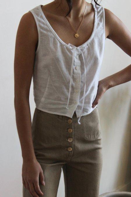 Avenue tie neck camisole - WHITE