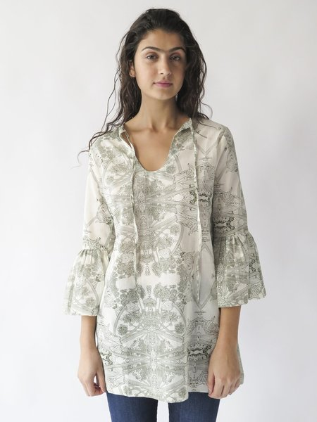 Erica Tanov temple tunic - natural/olive
