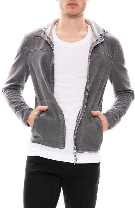 Gimos Washed Leather Hoodie