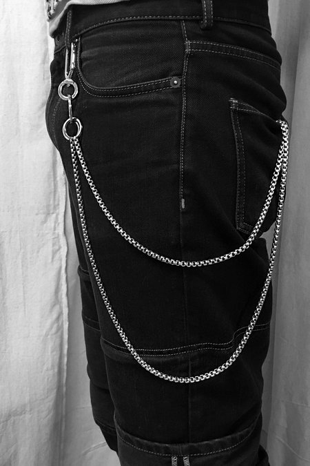Martine Ali Double Baby Boxer Wallet Chain - Sterling silver-dipped brass