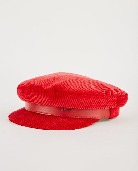 DON PARIS CORDUROY SAILOR CAP - RED