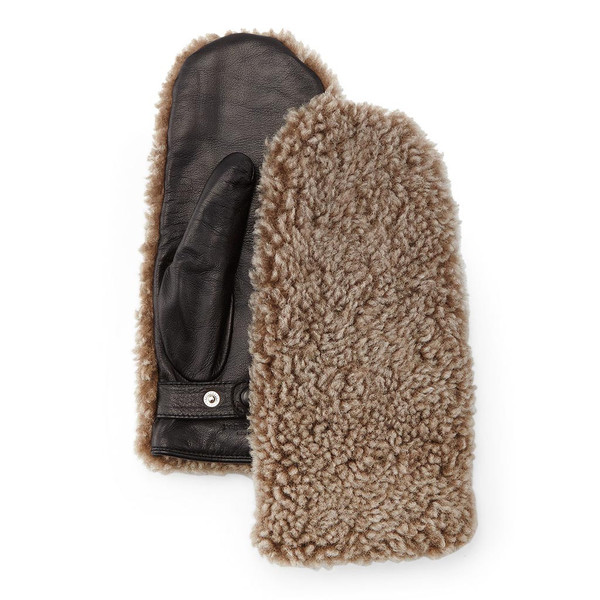 Rag & Bone SHEARLING AND LEATHER MITTENS