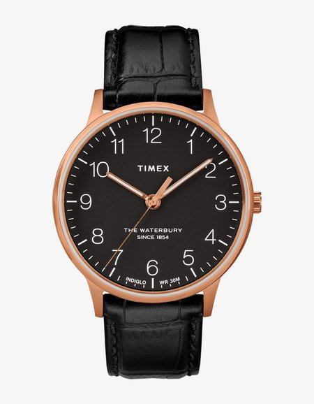Timex Waterbury Classic 40 Watch - Black/Black