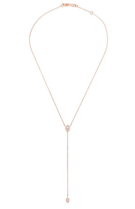 Carbon & Hyde Stella Lariat Necklace - Rose Gold