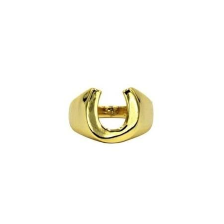 Ellie Vail Lance Horse Shoe Ring - Gold