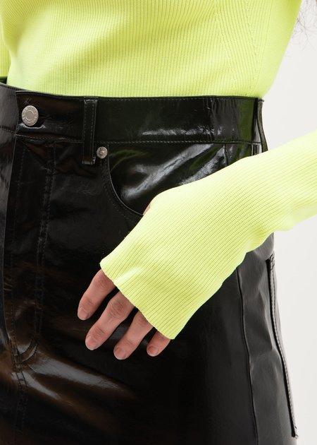 Helmut Lang Patent Five Pocket Leather Skirt - Black