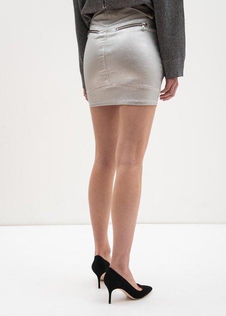 RtA Gisele Biker Skirt - Silver