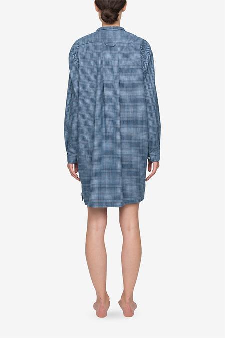 The Sleep Shirt Short Sleep Shirt - Blue Plaid