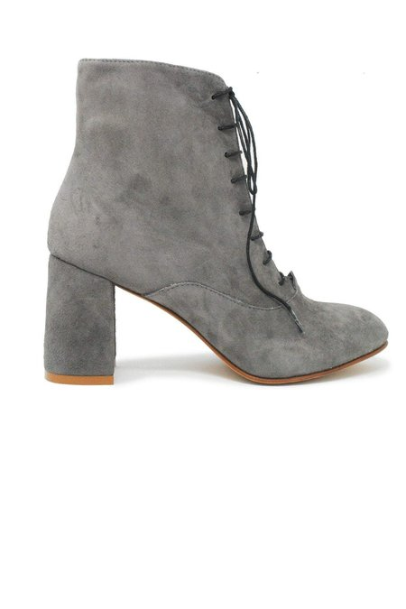 ABLE Condori Lace Up Suede Boot - Charcoal