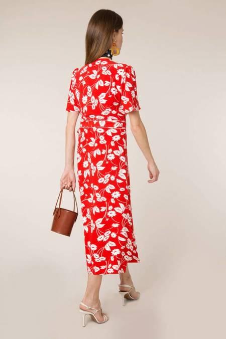 RIXO LONDON RIXO Shauna Wrap Dress - Daisy Red