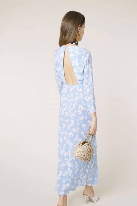 RIXO LONDON RIXO Rose Backless Dress - Daisy Blue