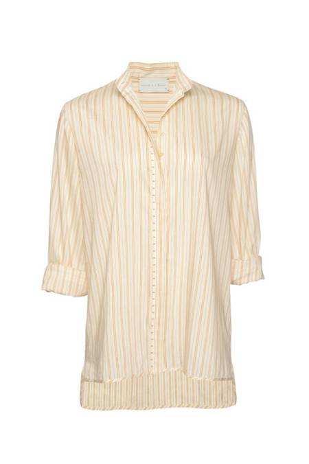 Arje Lu Mondrian Striped Shirt - Parchment