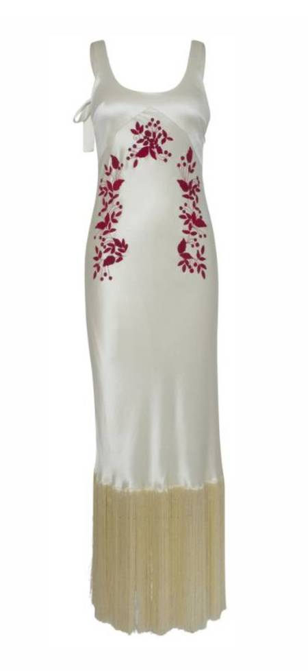 Alejandra Alonso Rojas Virginia Dress - ECRU/RED