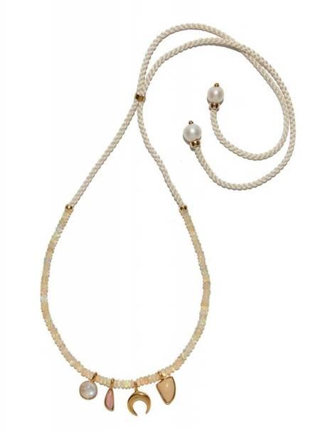 Lizzie Fortunato Amulet Necklace - Champagne
