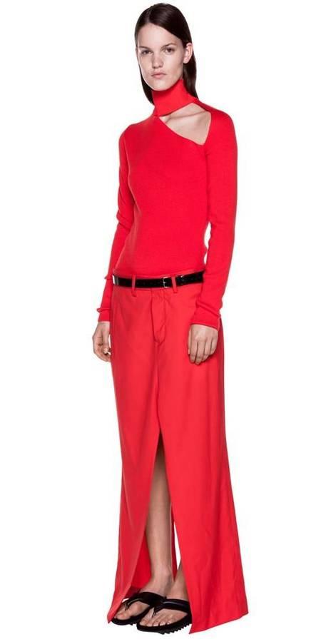 Dion Lee Spiral Sleeve Skivvy Sweater - RED