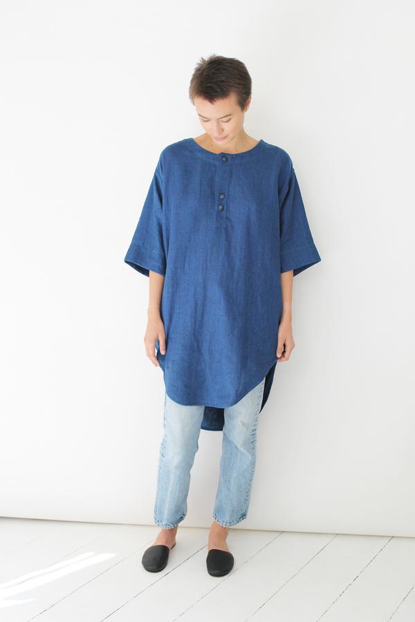 Ulihu linen tunic indigo