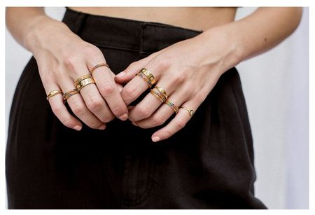 Five and Two Maria Ring - Gold