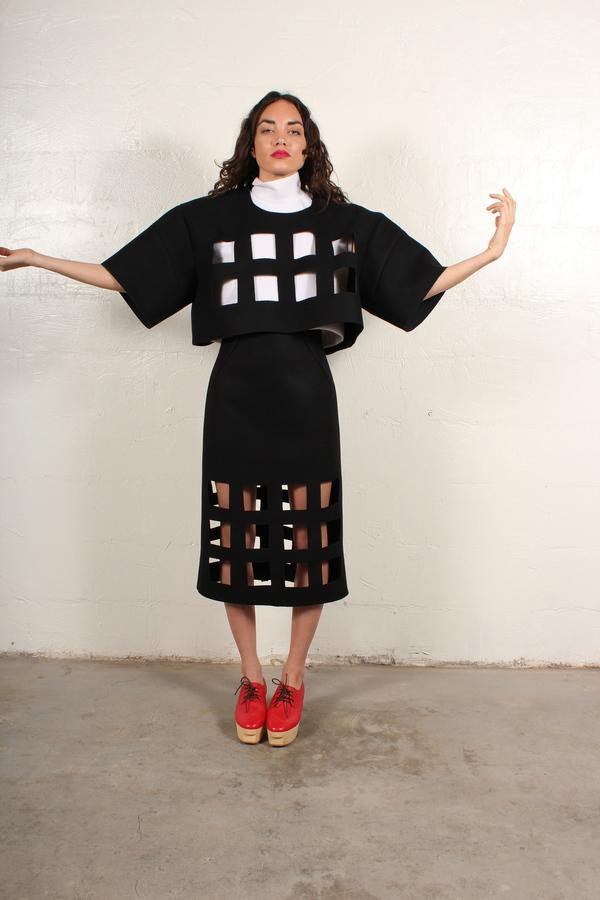 nancystellasoto Cutout Skirt
