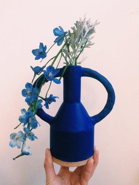Sophie Alda Jug Eared Vase - blue