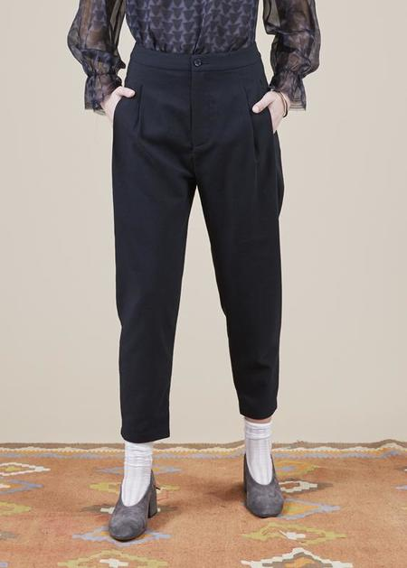 Sibel Saral Havuch Double Pleat Pant - black