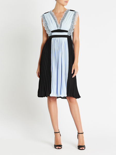 THREE FLOOR Sky High Dress - Heather Blue/Black