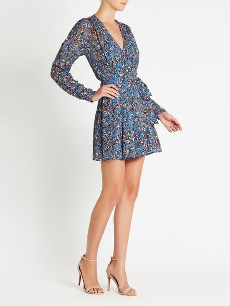 IRO Bustle Dress - BLUE
