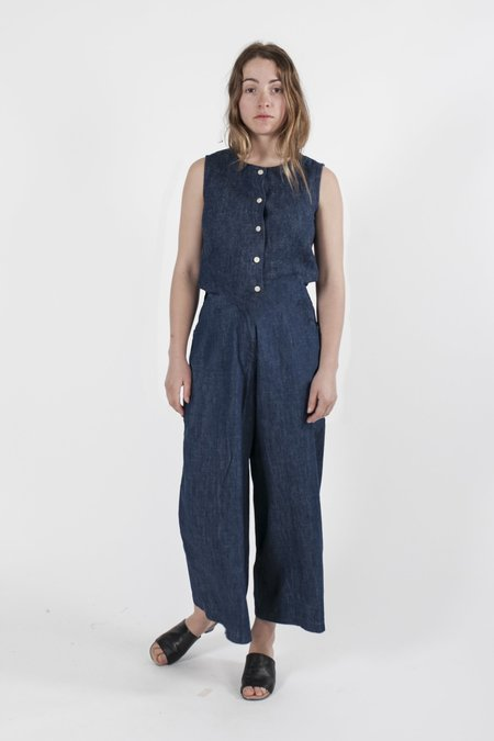 Good Studios Denim Drawstring Jumpsuit