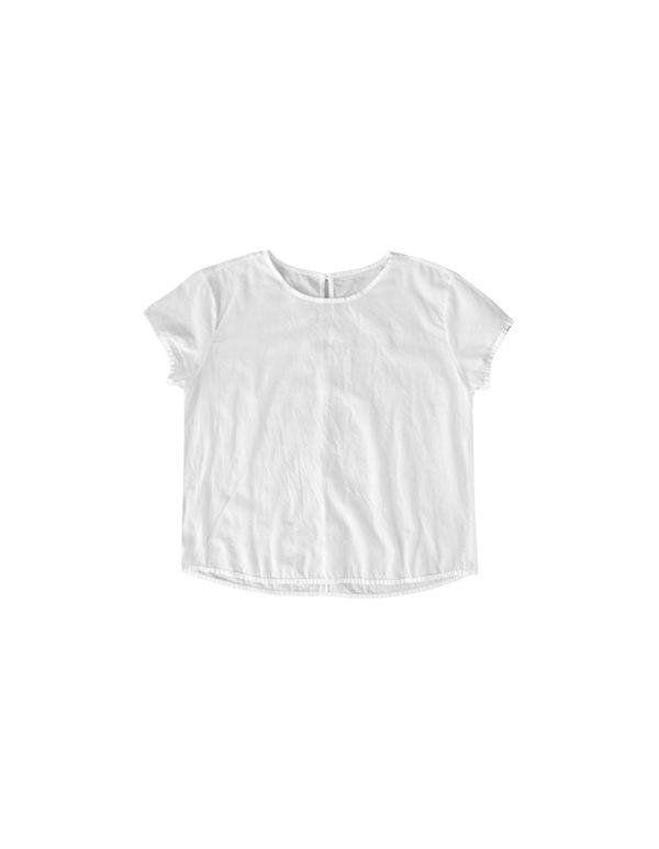 ALI GOLDEN CAP-SLEEVE TOP - WHITE