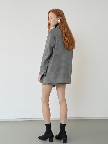 BLUV Petit Check Jacket - Black