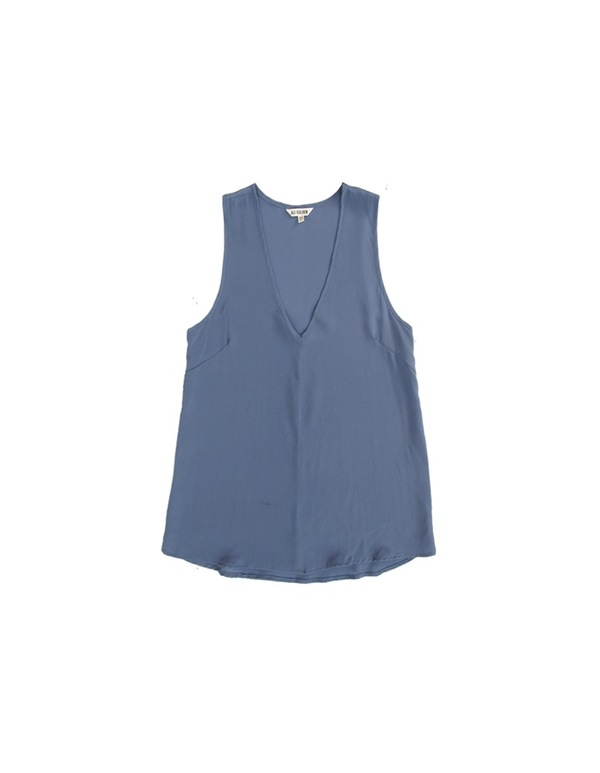 ALI GOLDEN V-NECK TANK - BLUE