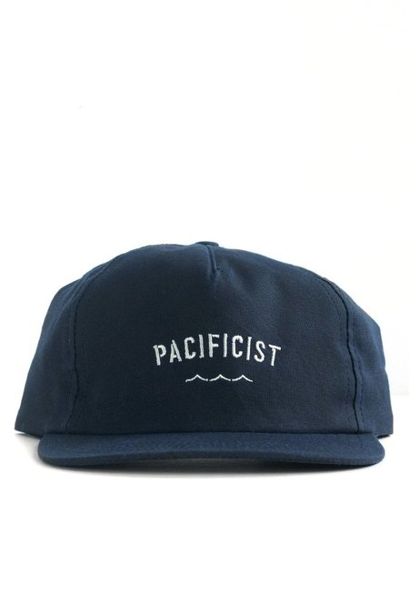 Bridge & Burn Pacificist Cap Waxed Canvas - Navy