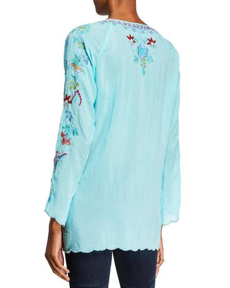 Johnny was NICO BLOUSE - Blue