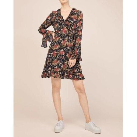byTiMo Semi Couture Wrap Dress - Asian Garden
