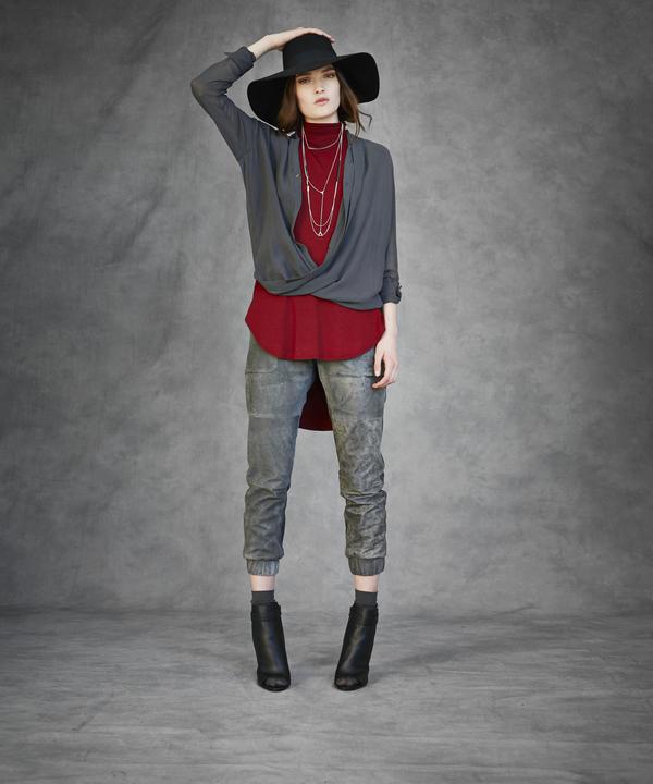 Laura  Seigel Silk Drape Top