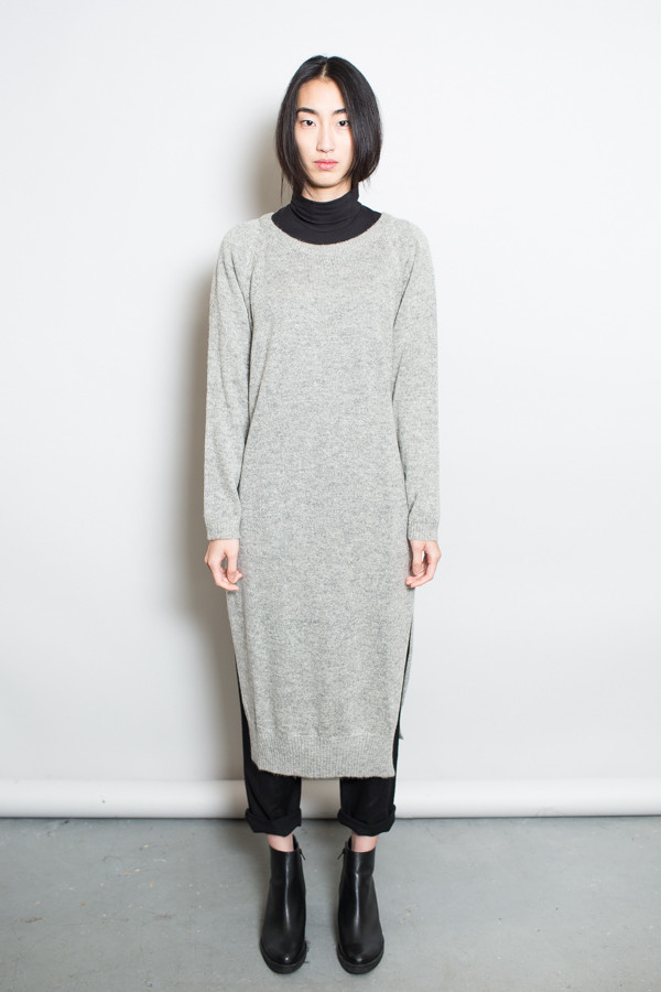 Achro Side Slit Sweater Dress