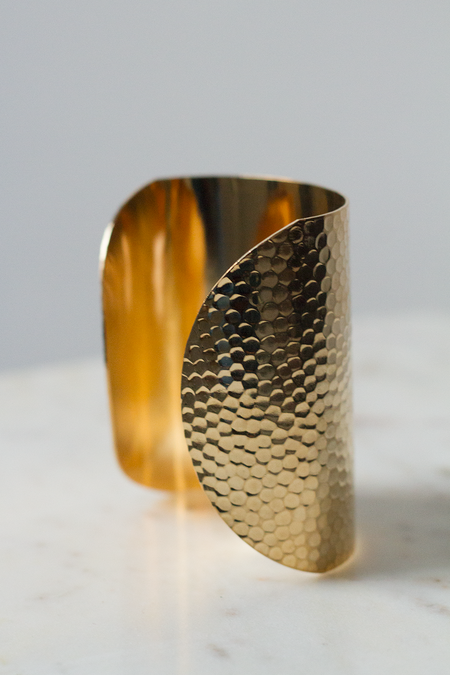 AV Max Hammered Cuff - Gold
