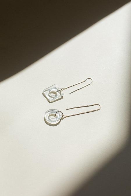HighLow Glass Threader Earrings
