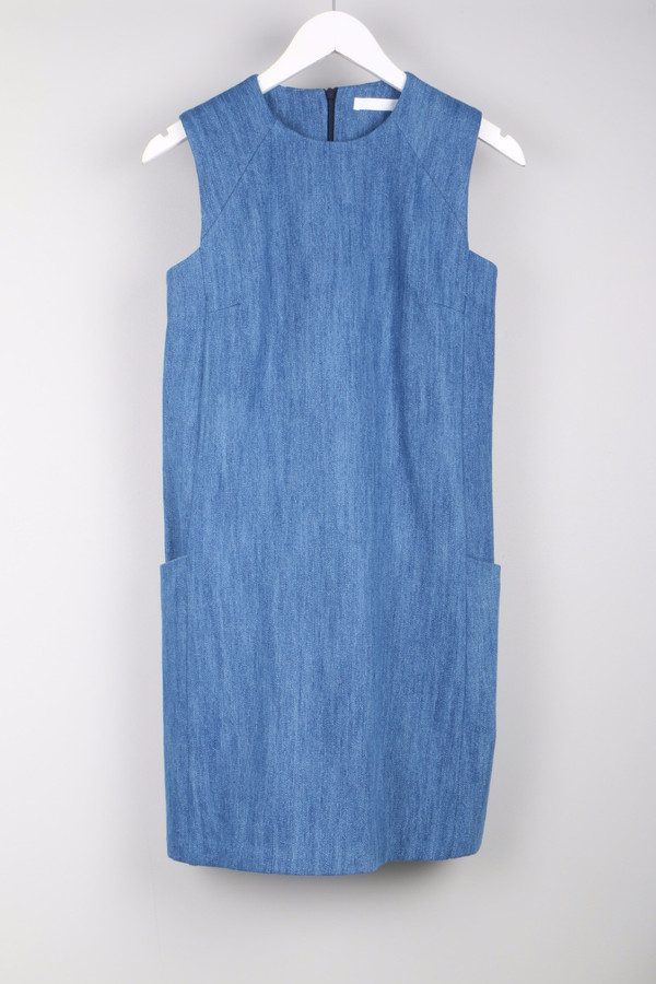 Atea Oceanie Sleeveless Shift Dress Denim