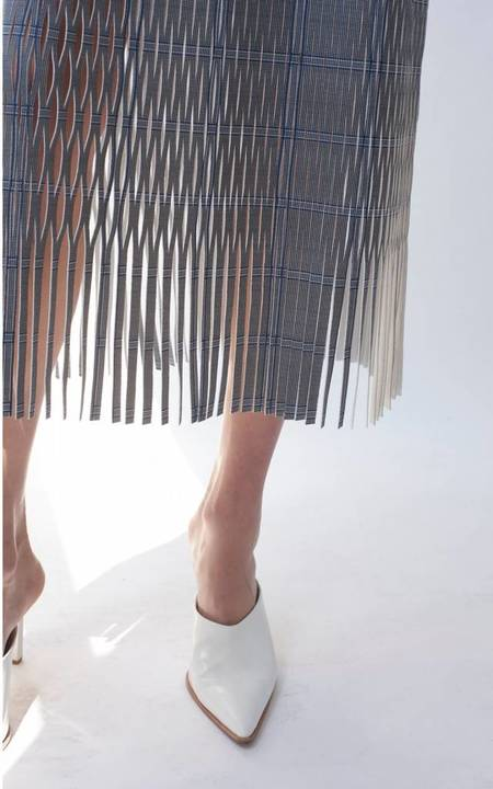 Dion Lee Check Perf Skirt - Navy Check