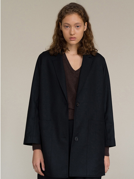 HASTO Fine Wool Jacket - Black