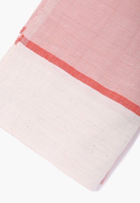 Far & Wide Collective Beach Blanket - Pink/Off White
