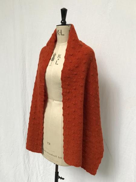 Ros Duke Pure Cashmere Polka scarf - Orange