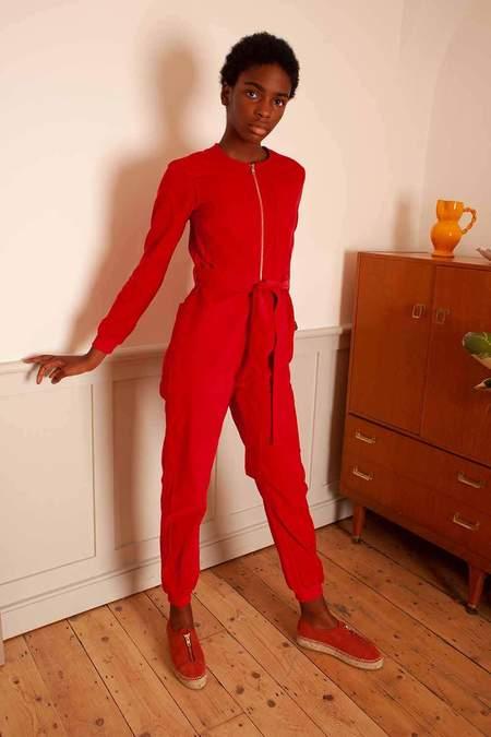 LF Markey Finlay Corduroy Boilersuit - Red