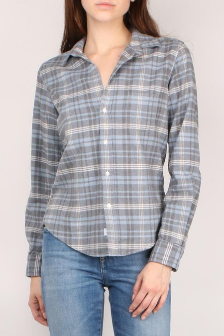 Frank & Eileen Barry Button Down - Blue/Grey/Ivory